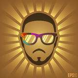 Creative Vintage Human Design. Vector Elements.  Geek Head Character Illustration. EPS10 Royalty Free Stock Photos