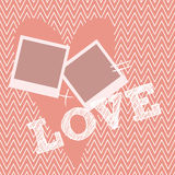 Creative vintage Valentines day cards in pink, gold and white. Vector illustration Royalty Free Stock Photo