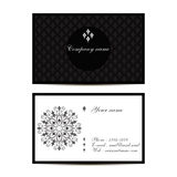 Creative visit card with pattern and space for information. Vector creative visit card with pattern and space for information Stock Photo