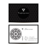 Creative visit card with pattern and space for information Royalty Free Stock Images