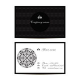 Creative visit card with pattern and space for information. Vector creative visit card with pattern and space for information Stock Images