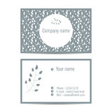 Creative visit card with pattern and space for information Royalty Free Stock Image