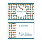 Creative visit card with pattern and space for information Royalty Free Stock Photo