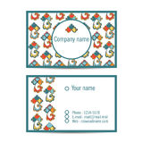 Creative visit card with pattern and space for information. Vector creative visit card with pattern and space for information Stock Photos