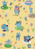 Creative wallpapers cats. Vector yellow creative wallpapers cats Stock Photos