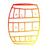 A creative warm gradient line drawing cartoon beer barrel. An original creative warm gradient line drawing cartoon beer barrel royalty free illustration