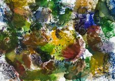 Creative watercolor background by monotype stock photo