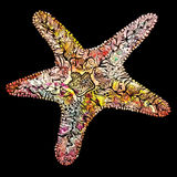 Creative Watercolor Starfish Stock Images