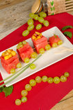 Creative watermelon dessert Royalty Free Stock Image