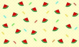 Creative watermelon pattern background - Vector stock illustration