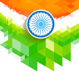 Creative wave indian flag. Creative vector indian flag wave style background Stock Photography