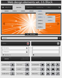 Creative web design elements set. Stock Photography