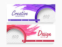 Creative web header or banner set. Royalty Free Stock Photography