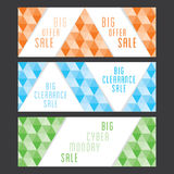 Creative web sale banner design Stock Photos