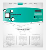 Creative Web Template with Map. Royalty Free Stock Photo