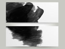 Creative website header or banner set. Creative abstract website header or banner set with paint stroke Royalty Free Stock Photos