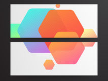 Creative website header or banner set. Website header or banner set with colorful abstract design Royalty Free Stock Images