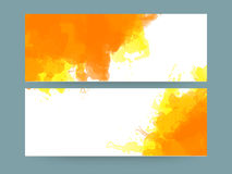 Creative website header or banner set. Royalty Free Stock Image