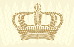 Creative wheat crown Royalty Free Stock Photo