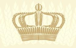 Creative wheat crown Royalty Free Stock Photo