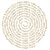Creative wheat swirl background Stock Image