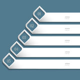 Creative white Design template Royalty Free Stock Photo