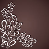 Creative white flora in dark background. Stock Royalty Free Stock Photos