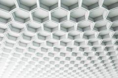 Creative white hexagon background royalty free illustration