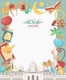 Creative white sheet design for holy month of muslim community festival Ramadan Kareem. Arabic decorations. Creative white sheet design for holy month of muslim Stock Photos