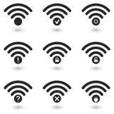 Creative WiFi Icons Set Stock Photos