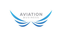 Creative Wing symbol. Aviation and Airlines Related  Business Royalty Free Stock Images