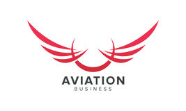 Creative Wing symbol. Aviation and Airlines Related  Business Royalty Free Stock Photo