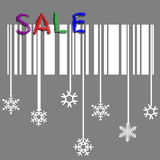 Creative winter sale Royalty Free Stock Images