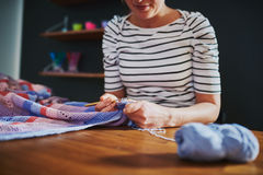 Creative woman sewing Royalty Free Stock Photography