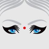 Creative women head, eye make from hands Stock Photography