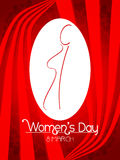 Creative women's day background. Stock Image