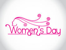 Creative women's day design element. Royalty Free Stock Image
