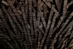 Creative wood pieces arrange into dynamic style. And layer Royalty Free Stock Photos