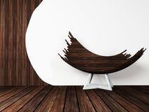 Creative wooden chair. Stock Images