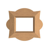 Creative wooden frame. Vector illustration of an empty photo fra Stock Photography