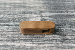 Free Creative Wooden Usb Stick On Dark Background Stock Photography - 77559792