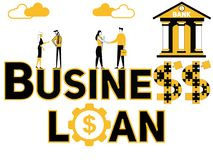Creative word concept Business Loan and people doing things royalty free illustration