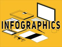 Creative Word concept Infographics and icons illustration stock illustration