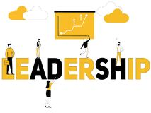 Creative word concept Leadership and multiple peoples royalty free illustration