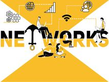 Creative Word concept Network and People doing multiple activities