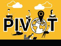Creative Word concept Pivot and People doing technical activities