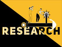 Creative Word concept Research and People doing things royalty free illustration