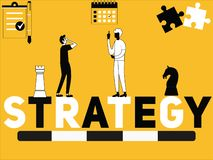 Creative Word concept Strategy and People doing things stock illustration