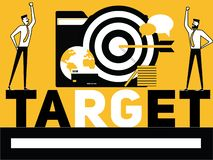 Creative Word concept Target and People doing things vector illustration