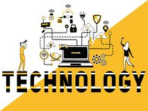 Creative Word concept Technology and People doing things royalty free illustration